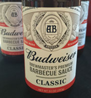 Anheuser-Busch recently launched a new line of barbecue sauces called Budweiser Brewmaster's Premium Barbecue Sauce.