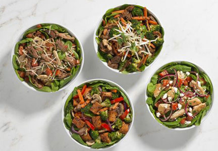 Noodles & Co. launched Buff Bowls which feature spinach instead of pasta and proteins such as steak, chicken and pork.