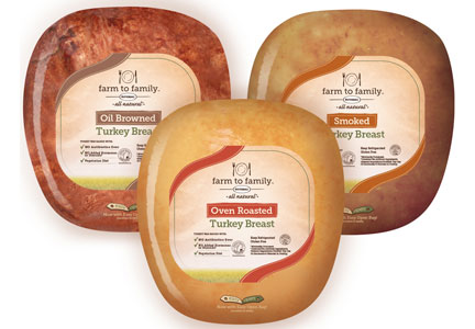 Butterball Farm to Family turkey breast product line