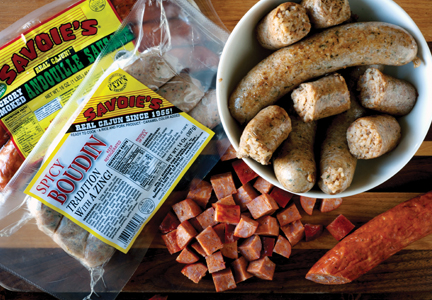 Smoked sausages are one of the most popular items sold at Savoie's Sausage & Food Products.
