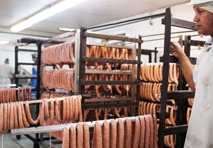Many of Savoie's sausages feature popular Cajun flavors and seasonings.