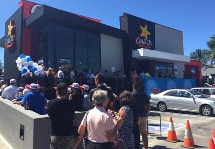 Carl's Jr. opens its first restaurant in Bateau Bay, New South Wales, Australia.