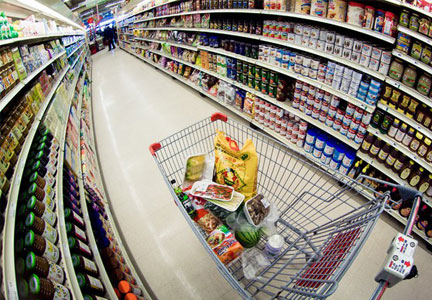 packaged foods aisle