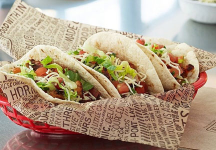 A basket of Chipotle soft tacos