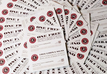 Chipotle free burrito coupons