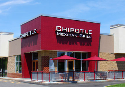 Exterior of Chipotle restaurant