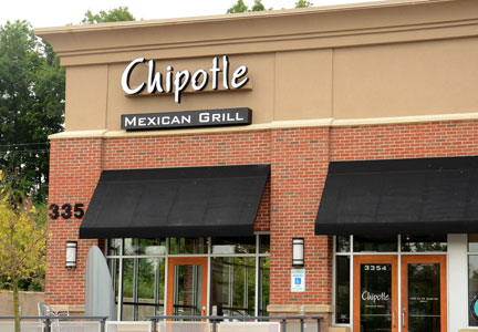 Photograph of Chipotle restaurant exterior