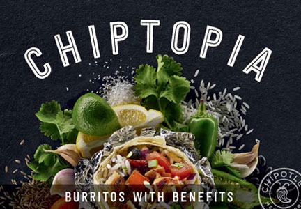 Chiptopia Chipotle Mexican Grill rewards card