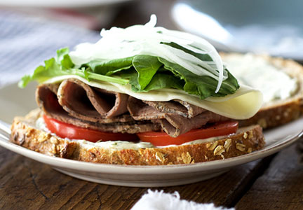 Christine's Applegate Farms roast beef sandwich