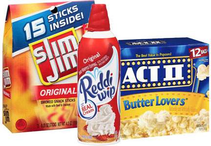 ConAgra Foods products - Slim Jim, Reddi Wip, Act II popcorn