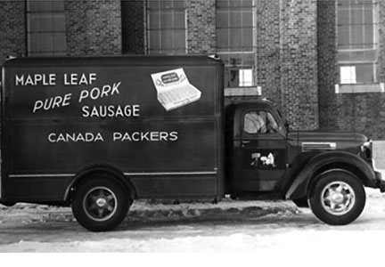 Canada Packers Maple Leaf truck