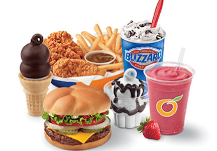 Dairy Queen menu items