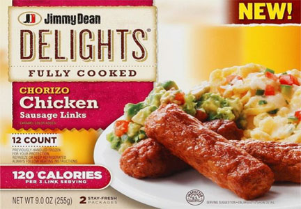 Jimmy Dean Delights chorizo chickan sausage links