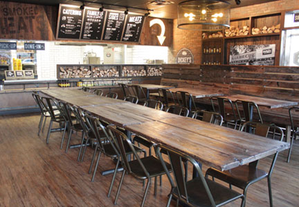 The Dickey's Barbecue Pit restaurants combine rustic charm with modern touches.
