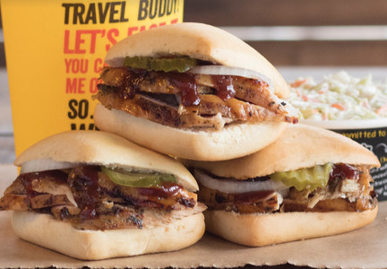 Dickey's Barbecue Pit chicken sliders