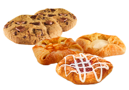 Dunkin' Donuts cookies and pastries