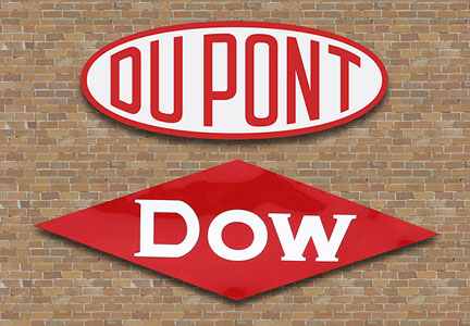 Dupont and Dow signs