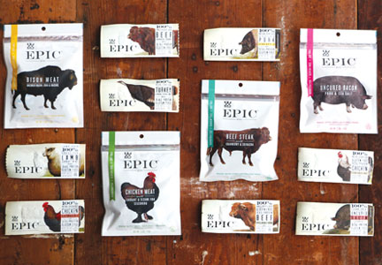 Epic Provisions offers 20 products, including fruit bars and snack bites.