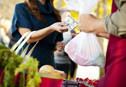 Most sales made directly to consumers occurred at farmers markets and on-farm stores.