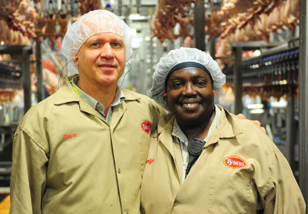 More than 1,400 team members now work at the Tyson Foods tray-pack plant.