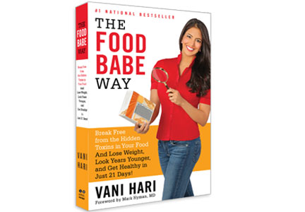 "A copy of Vani Hari's book, ""The Food Babe Way"""
