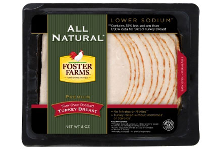 Foster Farms enters the premium lunchmeat category with all-natural sliced turkey.