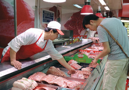 Chinese consumers look for pork imported from the United States