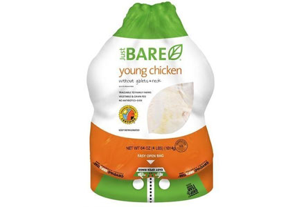 Just BARE young chicken