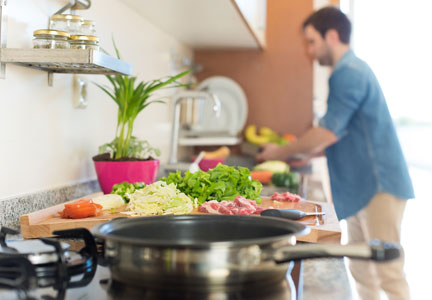 More consumers have embraced cooking meals at home.