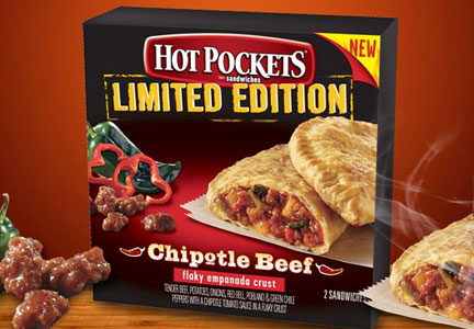 Limited edition Chipotle Beef Hot Pockets