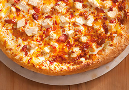 Hunt Brothers chicken, bacon ranch pizza