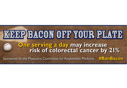 Keep Bacon Off Your Plate billboard in Allentown, Pennsylvania