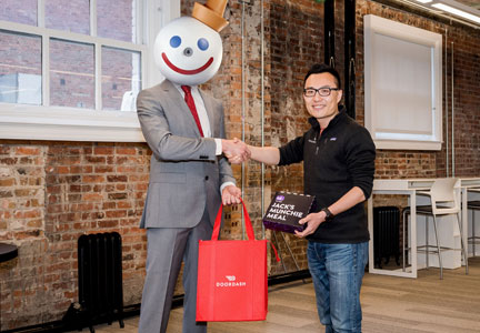 Jack Box and DoorDash CEO Tony Xu