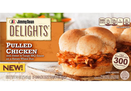 Jimmy Dean pulled chicken Delights