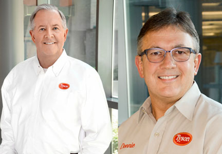 Tyson Foods executives Dennis Leatherby and Donnie King