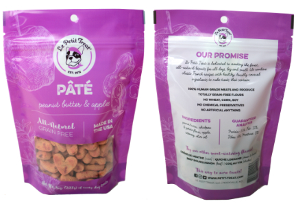 Le Petit Treat pate-flavored dog biscuits