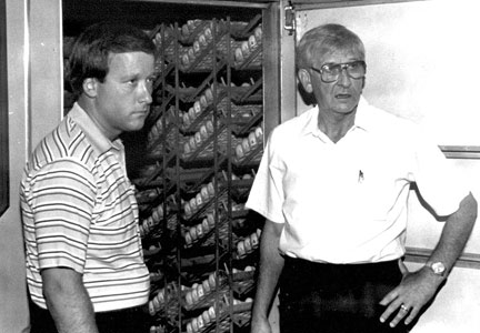 Gary (left) and his father, Gene, worked side-by-side to grow George's Inc. in Springdale, Ark. and beyond.