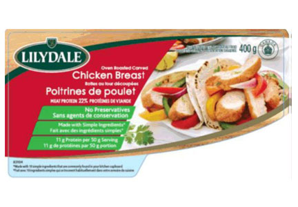 Lilydale brand chicken breast package