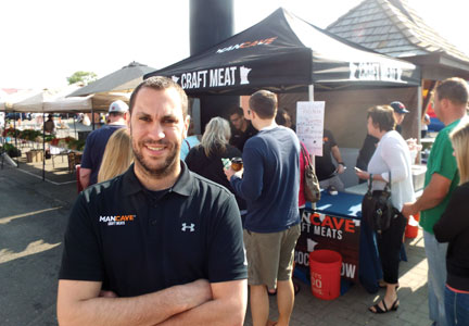 Nick Beste holds the title of Chief Instigator at Man Cave Craft Meats