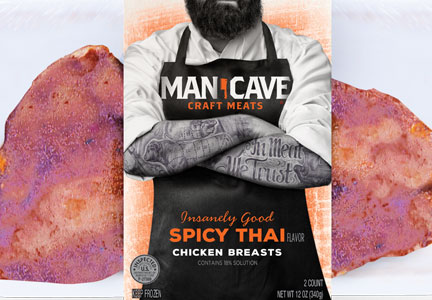 Man Cave Craft Meats offers Spicy Thai chicken breasts