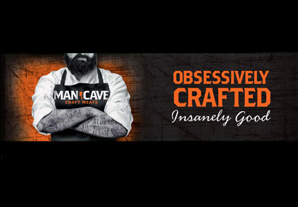 Man Cave Craft Meats products bear a striking image on the packaging