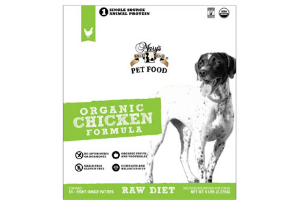 Mary's Pet Food organic chicken formula
