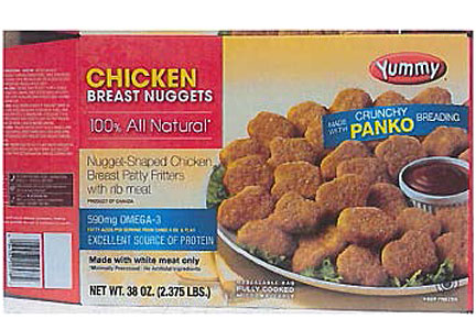 Maxi Canada of Quebec, Canada launched a recall of 103,752 lbs. of Yummy brand chicken nuggets.