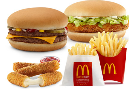 McDonald's McPick 2 for $2 menu items