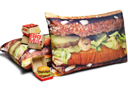 McDelivery Big Mac pillowcase set