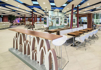 McDonald's 'restaurant of the future' concept at the Frankfurt airport.