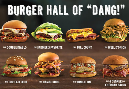 Mooyah Hall of 'Dang!' sandwich promotion