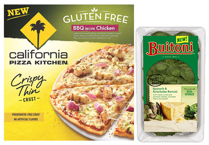 Nestle gluten-free California Pizza Kitchen pizza Buitoni pasta