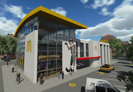 Rendering of the new World's Largest McDonald's
