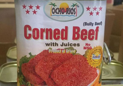 Ocho Rios in Miami recalls canned corned beef that was not presented for inspection.